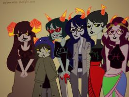 Headcanon for Troll Ladies by thentherewasIA