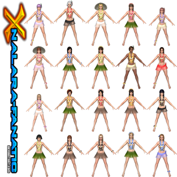 DOA5LR - Nude Hawaiian MODS for XNAlara/XPS by XNALara-Fanatic
