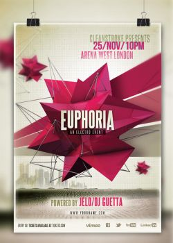 Euphoria Electro or Indie Event Poster by cleanstroke