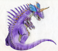 Nidoking realistic by Weirda208