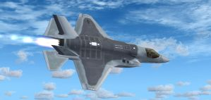 F-35B USMC 'Ace of Spades' by agnott