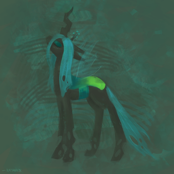 Queen Chrysalis [1h art challenge] (sec version) by RatAnn
