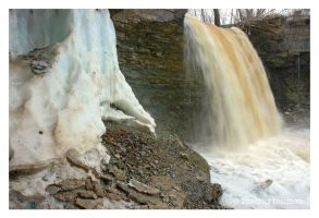 Spring Thaw At Wequiock Falls by tditzgb