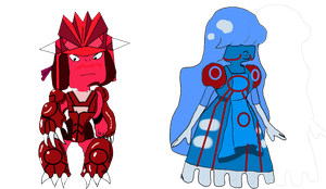 Ruby and Sapphire by impostergir007