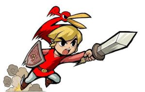Minish cap red link by Tyxon