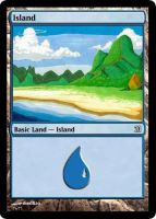 MtG: Island by Overlord-J
