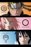 Naruto Scan632 Naruto Sakura and Sasuke Team 7 by Sarah927