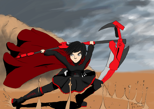 RWBY Ruby Fan Art by CaptainHitam
