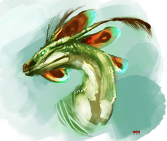 Anole Dragon by Baals-Baby