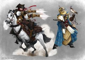 Pathfinder - Gunslinger and Cleric by TimKings-Lynne