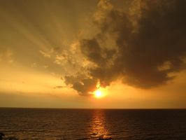 Sunset storm Lake Erie June 25 by OhioErieCanalGirl