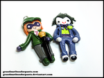 Joker and Riddler by GrandmaThunderpants