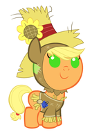 Baby Applejack on Nightmare Night by Beavernator
