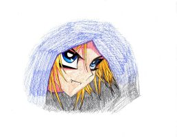 Colored vamp Yugi in hiding by xMystery21x
