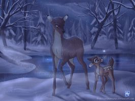 Bambi's First Snow by ArunaTramp