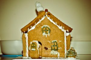 Gingerbread House by scribbleXcore