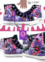 Purple Party Chucks by Bobsmade