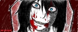 Jeff the Killer (Microsoft Paint) by SylviaEvilKitty