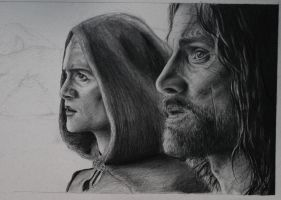 Aragorn and Legolas by caseofitsown