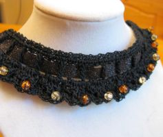 Halloween Party Choker by doilydeas