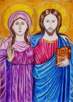Jesus and Magdalene by munchengirl
