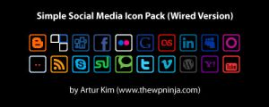 Wired Social Media Icon Pack by arturkim