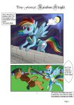 Pony Fantasy: Rainbow Knight, Page 1 by ZeroBlue4