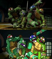 TMNT Screen Cap 2: My Version by JennieJutsu