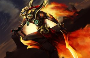 Zsoltan the Phoenix King by Maheby