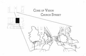 14 St. Design - Cone of Vision Church St. Diagram by Nayias01