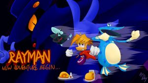 Rayman:new wallpaper by amberday