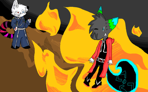 FIRE TEIM -collab- by TheCuriousFox