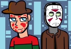 Stylish Freddy and Jason by Criss-Angel-lover