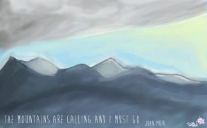 The Mountains Are Calling by Blue-Rouge