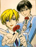 Tamaki and Kyoya by mandax087