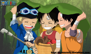 ASL - Ace Sabo Luffy (part 1) - Lineart Colored by DennisStelly