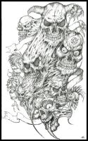 Skulls tattoo design by Peter-Ortiz
