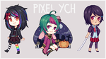 YCH pixel chibis AUCTION CLOSED by Riukkii