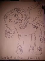 snowdrop as alacorn no color by daylover1313