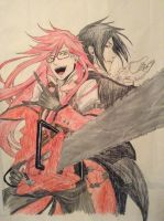 Black Butler: Grell and Sebastian by xXPhantomReaperXx