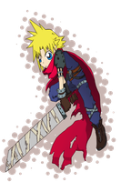 Cloud Strife by fireykaigurl