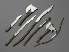 Elven Weapon Set by pfunked