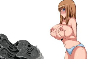 Weight Disk Smashed By Her Breast by fatenano