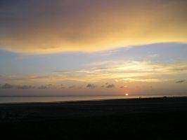 South Padre Island Sunset by saabe