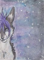 My shiny side -ACEO by alivePuppet
