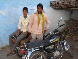 Young men in village by hotmetal53