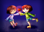 .:Undertale:. Frisk and Chara by N-Lilix