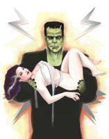 Frankenstein lovers by DarthTerry