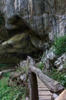 Cave in Romania, entrance: Pestera Bolii 2 by mariustipa
