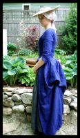 Blue gown - side view by IndifferentCentury